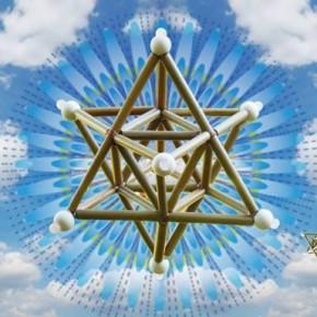 「神聖幾何学立体作り+瞑想」のワークショップ